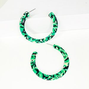 Closet Rehab Jewelry - Hoop Earrings in Turquoise